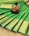 Khadi Linen Silk Saree