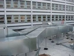 Heating & Ventilation Galvanized Iron Industrial Ducting Works, For Cooling, On Site