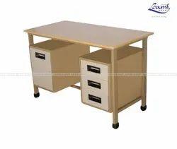 Rectangular Stainless Steel Office Table, New Mount Mushroom Colour