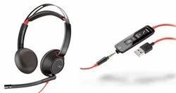 Wired Over The Head Plantronics Blackwire 5220 Headphone, 164 Grams