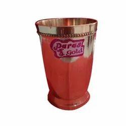 Fine Polish Brass Glass, Shape: Round, Size: 350 Ml