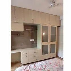 Blacksmith Enterprises Brown Living Room Wooden Wardrobe, For Home