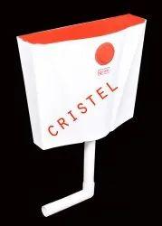 CRISTEL White FRONT PUSH FLUSHING CISTERN, For Toilet, Model Name/Number: Ft 04