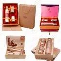 Copperking Pure Copper Corporate Gift Set Bottle With 4 Tumblers Glass