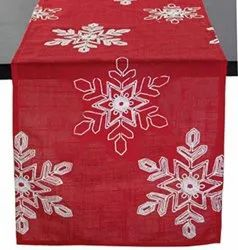MKS INDIA Red Embroidery Table Runners
