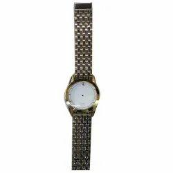 Round Men Analog Quartz Wrist Watch, For Formal