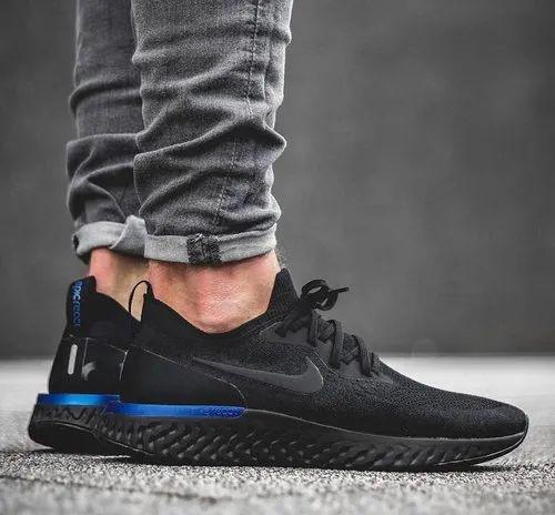 Nike epic react flyknit Black blue men