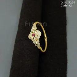 Antique Kundan Meenakari Openable Bracelet Kada