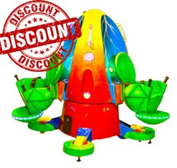 Kiddie Amusement Ride Game - Jumping Frog 3 Seater