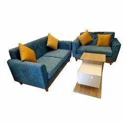 Teak Wood 5 Seater Sofa Set, For Home,Hotels