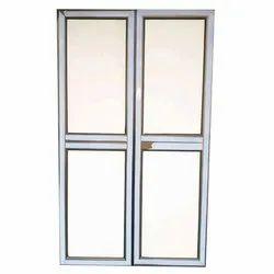 White Powder Coated Aluminium Exterior Door