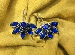 Oxidized Stone Flora Earring