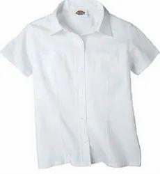 Cotton White Girl School Uniform Shirt, 22-44, Age Group: 8-15