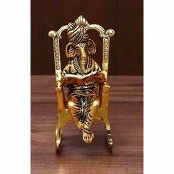 7 Inch Brass Ganesha Statues