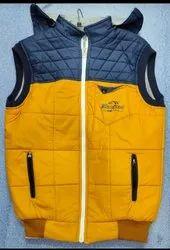 Polyester Hooded Mens Sleeveless Winter Jacket, Size: S-XXL