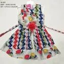 COLORFUL PRINTED  SLEEVE LESS LONG FROCK FOR GIRLS