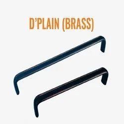 D Plain Brass Cabinet Handle