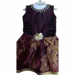 Girls Party Wear Sleeveless Frock