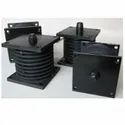Rubber boloster spring mountings