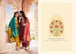 Kessi Sahenaj Jam Silk Embroidery And Khatli Work Dress Material Catalog