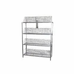 4 Shelves Stainless Steel Plate Racks