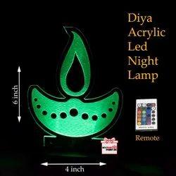 MyPhotoPrint Diya Acrylic Led Night Lamp Corporate Gifts/Promotional Gifts
