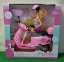 Plastic Scooty Doll With Scooter