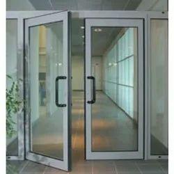 Hinged Plain Glass Doors, For Office
