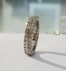 Casual Wear 925 silver Stone Band Ring