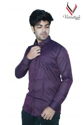 Variation Purple A-0824 Men Formal Shirt, Machine wash
