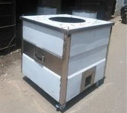 Charcole Stainless Steel SS Square Thandoor 30x30x34, For Restaurant