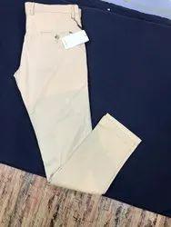 Flat Trousers Slim Fit Men Cotton Pant