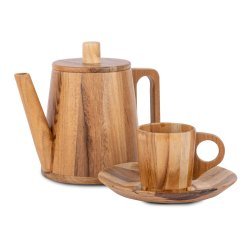 Martiza handicrafts - Teak wood Tea Cup Set - Small, Packaging Type: export quality