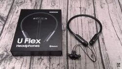 Black Earbud Samsung u Flex Neckband, Bluetooth Version: 5.0, Weight: 35.23