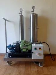 PTFU-50 SS Filtration Skid With Pump And Motor