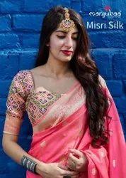 Manjubaa Misri Silk Saree Catalog Collection
