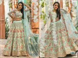 Thankar Silk Designer Latest Embroidered Bridal Lehenga