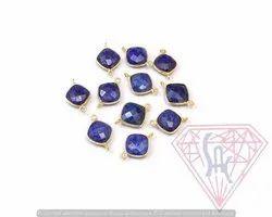 Blue Sapphire Bezel Connector