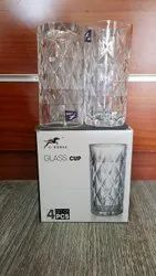 4 Pcs Transparent 6014LX Drinking Glasses Set, For Home,Office, Size: 15cm,(Height)