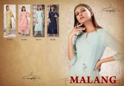 Malang - 3/4th Sleeves Embroided Kurtis