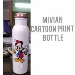 Cartoon Print Copper Bottle