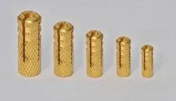 JCBI INDIA Brass Knurling Anchors, For Hardware Fitting