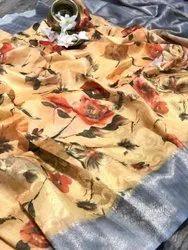Colorthreads Wedding Wear Designer Soft Silk Saree, 6.3 m (With Blouse Piece)
