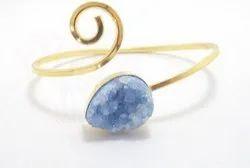 Natural Druzy Bangle Bracelet