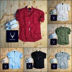 Men Plain Allen Solly Shirts, Size: M L Xl