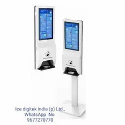 Digital Standing Floor Sensor Wall Mounted Liquid Alcohol Gel Touchless Infrared Automatic