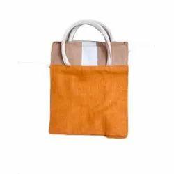 Yellow Jute Plain Bag, Size: 9 X 6 Inch