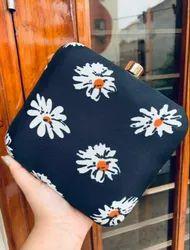 Blue Flower Print Hand Bag