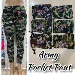 Ladies Army Cotton Pants, Waist Size: 30.0