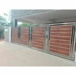 Hinged Modern Stainless Steel Gate, For Residential